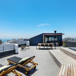 Deck with jacuzzi; PENTHOUSE ON POINT - Green Point